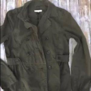 Women's LOFT military green jacket large
